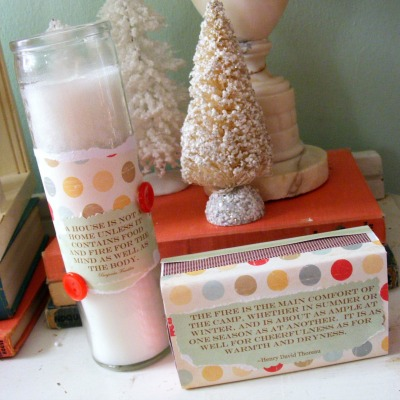 Easy Candle Christmas Craft Gift