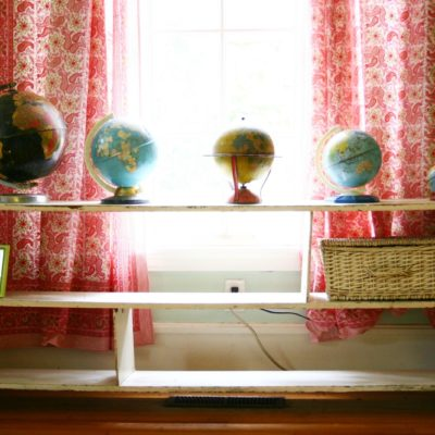 make-do {and make lovely} monday- evolution of a shelf