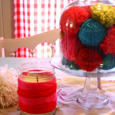 a week of thanksgiving – day 6 – yarn over candles