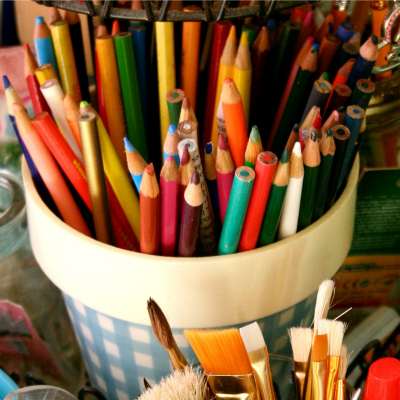 make do {and make lovely} monday-introducing the art room