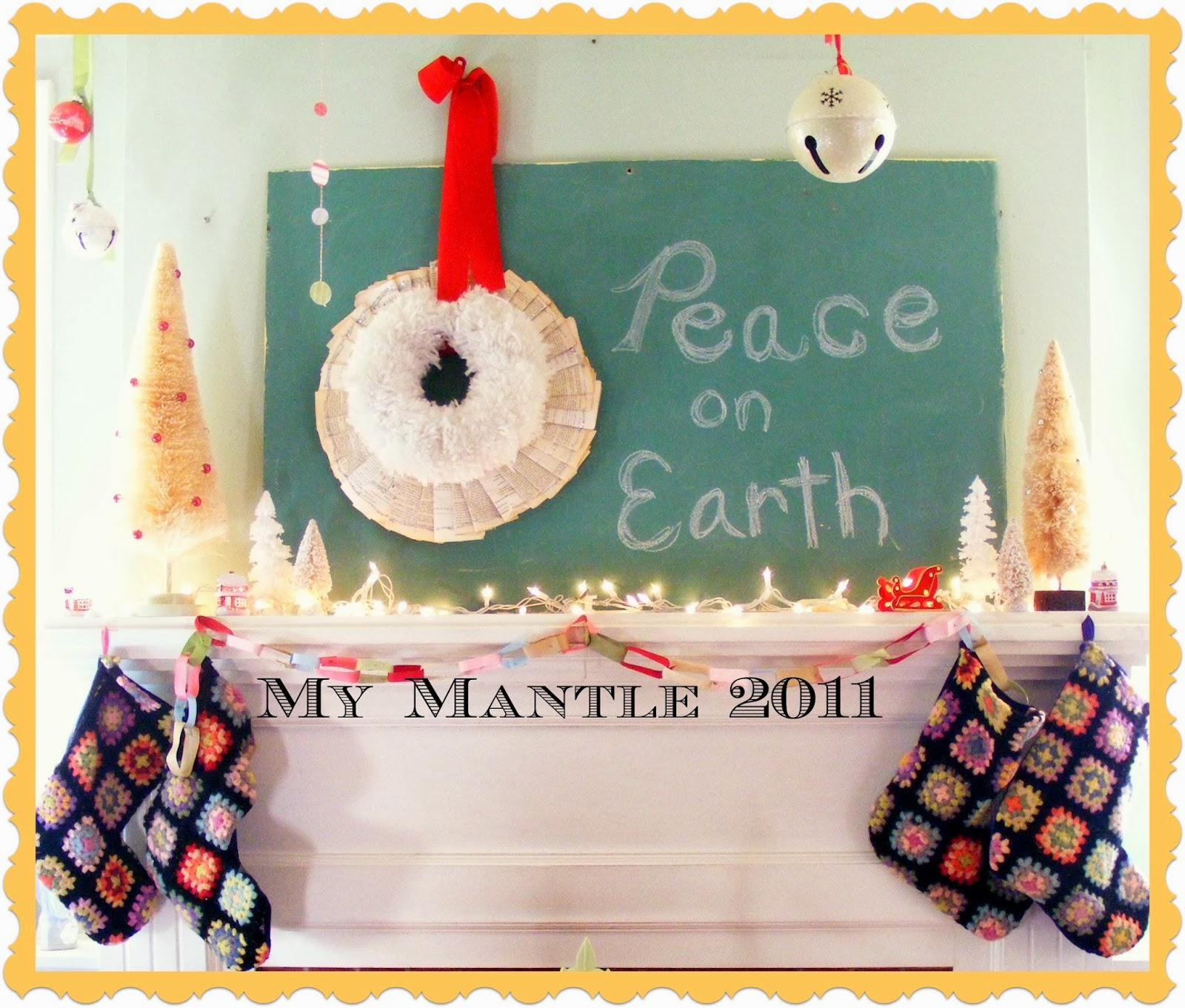 Yarn Wreath: Doing my part to inspire big brand stores