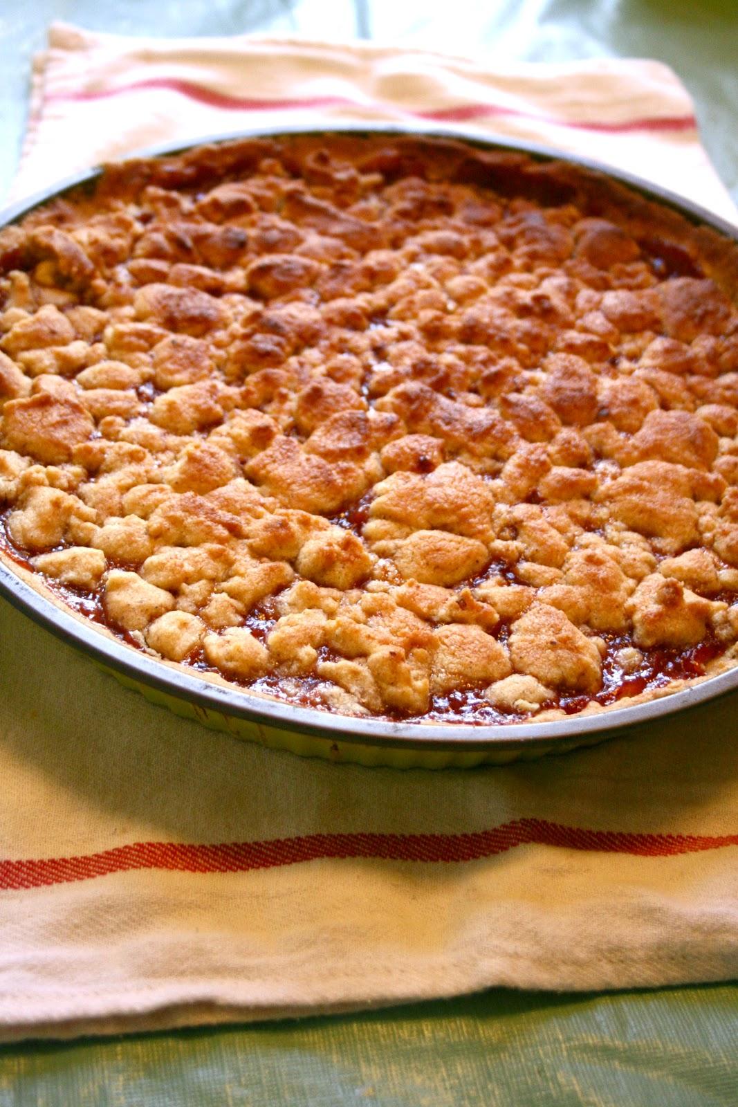 Cranberry Rhubarb Crumble