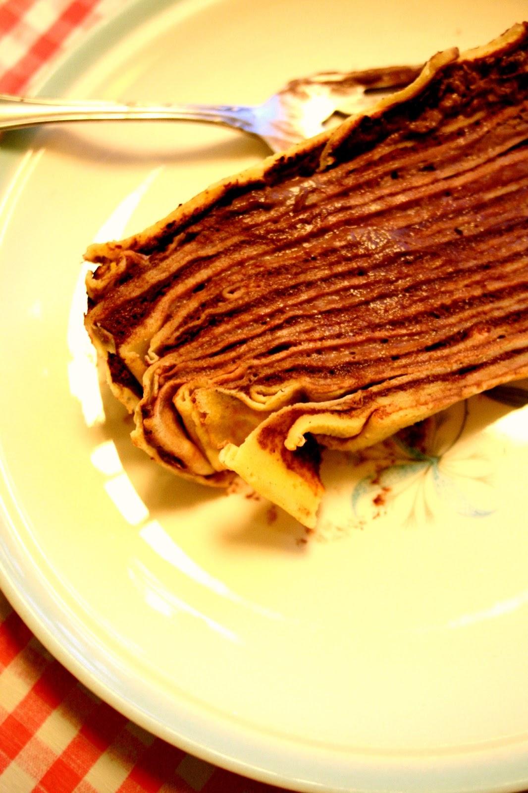 le gateau de crepe ala chocolat (or something like that)