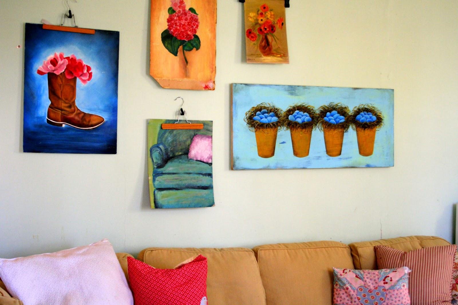 Make-Do {and make lovely} Mondays-Wall Art Happy