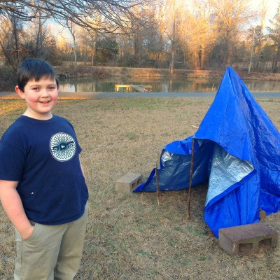 Building a Teepee {Living a Slow Childhood}