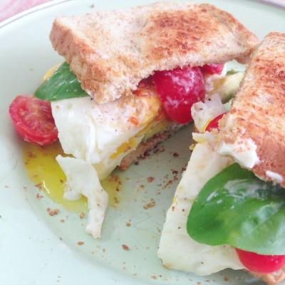 Summer Farmhouse Breakfast Sandwich